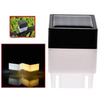 solar-led-tor licht groihandel-2x2 Quadrat Solar Post Cap Licht für Schmiedeeisen Fechten Vorgarten und Hinterhöfe Tor Landschaftsbau Wohn