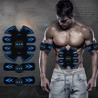 machines d'abs achat en gros de-Electro ABS de Stimulateur EMS Muscle abdominal Trainer Appareil ceinture de tonification Fitness Body Machine de construction Équipement Gym