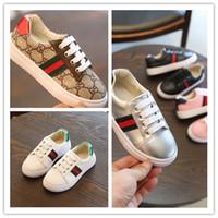 chaussures coréennes taille achat en gros de-Mode 2020 Automne Nouvel enfant Sneakers Garçon sport Coréen Cravate Avant étudiant Non-slip Loisirs Blanc grils running chaussures taille 26-35