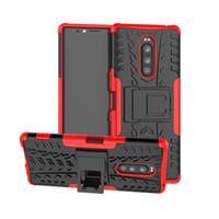 Wholesale xperia black case online – custom Dazzle Hybrid Impact Rugged Armor Case for Sony Xperia XZ3 XZ4 L3 XA3 Ultra XZ2 Premium XA2 Compact Shockproof Cover with Kickstand