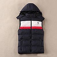 chaquetas de invierno de los hombres clásicos al por mayor-Chaleco de invierno francés de alta calidad para hombres nuevos de diseñador Chaquetas de weskit de plumas clásicas chaleco casual