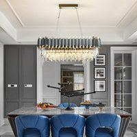Wholesale luxury crystal chandeliers resale online - Modern K9 crystal chandelier lighting luxury crystal pendant chandeliers lights led pendant lamps for dinning room restaurant hotel