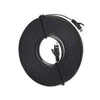 utp rj45 al por mayor-80m utp cable plano cable de seis interfaz GB RJ45 red plana cat6 0694