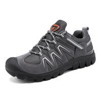 Wholesale outdoor trekking shoes resale online - BOUSSAC Men s Waterproof Hiking Shoes Travel Shoes Outdoor Non slip Wear Sneakers Men Lace Trekking Climbing Sports Shoes Male
