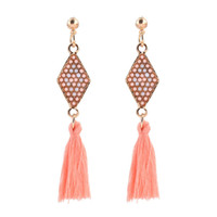 Wholesale threading earrings resale online - handmade ethnic bohemian long thread tassel earrings vintage Jewelry for girls colors C001