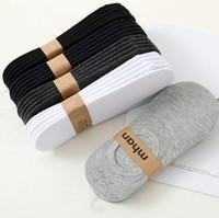 knöchel socken hausschuhe großhandel-Mens Womens Cotton Super Low unsichtbare Socken mit Mesh-Belüftung mit Anti-Rutsch-Gel Fersengriff Rutschfeste flache Söckchen Hausschuhe