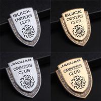 emblemas de plástico para automóveis venda por atacado-Buick Jaguar XF XF F XJ XJ XJ XJ6 XK TIPO de Estilo Do Carro Do Emblema Do Emblema Do Metal Porta Do Carro Fender Traseira Tronco Emblema Adesivo Decalque