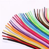 cordones redondos de colores al por mayor-Zapatos deportivos de color redondo Whosesale de encaje zapatos de ocio de moda de encaje