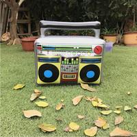 juguetes fotográficos al por mayor-Radio forma Globo Grabadora FM Inflar música Globos PVC Juguetes inflables Moda Accesorios de fotos Decoraciones para fiestas Globos CCA10864 20pcs