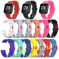 нейтральные полосы запястье оптовых-Сменные силиконовые ремешки для Fitbit Versa / Versa Lite Часы Интеллектуальный нейтральный классический браслет ремешок на запястье 13 цветов Бесплатно DHL