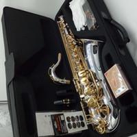juncos para saxa venda por atacado-Saxofone tenor Novo YANAGISAWA T-WO37 Banhado A Ouro Nickel Banhado A Saxofone Chave Profissional Bocal Pads Palhetas Bend Pescoço Com Caso