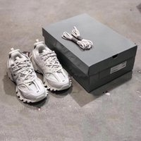 ingrosso i pattini casuali degli uomini di marca-Qualità superiore di lusso del progettista dei pattini casuali Triple S pista 3.0 Marca Grigio Arancione Giallo Donna Uomo Casual Sneakers sportive Platform Shoes