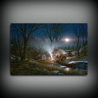 Wholesale tales figure resale online - HD Printed Terry Redlin Oil Painting Home Decoration Wall Art on Canvas Campfire Tales Unframed