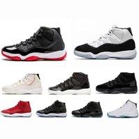 kıyafet modacı tasarımcıları toptan satış-Yeni Concord Yüksek 45 Platin Tonu 11 XI 11 s Kap ve Kıyafeti Erkek Basketbol Ayakkabıları PRM Heiress moda lüks erkek kadın tasarımcı sandalet ayakkabı