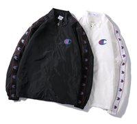 chaquetas de moda al por mayor-2019 nueva moda de los hombres bordado gran C con cremallera chaqueta de la moda chaqueta de deportes letra bordada cuello juvenil chaqueta