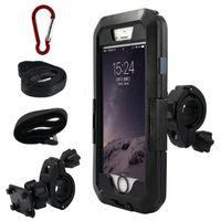 Wholesale waterproof phone holder for bike resale online - Motorcycle Bicycle Mountain Bike Mount Holder Stand Waterproof Phone Case for iPhone X XR XS Max plus S9 GPS Bike Bracket Support HDSZ030