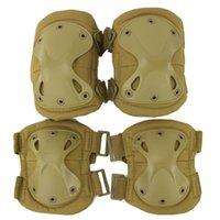 airsoft shells оптовых-Тактические наколенники налокотники Поддержка локтя на открытом воздухе с жестким X-Shell Спорт Airsoft Охота наколенники налокотники Набор