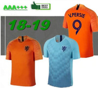 fußballmannschaft trikots großhandel-2018/19 Holland fußball trikot home orange niederlande nationalmannschaft JERSEY memphis SNEIJDER 18 19 V.Persie Niederländische fußballtrikots