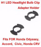kit de bombilla h1 al por mayor-Kit de faros delanteros LED H1 Lámparas Lámparas Clips de luz Soporte del adaptador Retenedor de la base Se adapta para Honda Oddssey Accord Civic CRV