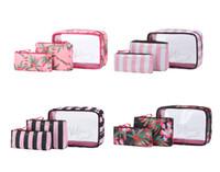 sac imperméable à fleurs achat en gros de-VS Maquillage rose Sac Comestic Étui d'emballage Cubes Femmes Sac De Voyage Hawaii Fleur Imperméable Rose Comestic pour Laver Accessoires