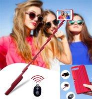 ingrosso bastone di cella del bluetooth-2 in 1 Stickbox Custodia per cellulare Custodia per selfie bluetooth Otturatore remoto Conveniente alla moda Fold Custodia mobile per 6 7 8 plus X XS