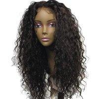 hochwertige remy haarperücken großhandel-9A Hohe Qualität Brasilianisches Reines Haar Beste Brasilianische Wasserwelle Perücken Remy Menschenhaar Lace Front Natürliche Farbe perücken