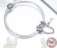 concha de la suerte al por mayor-SPC6 (con caja) Venta caliente 100% plata de ley 925 Lucky Hamsa Fatima Hand Chain Link Bracelets para mujeres Joyas de plata