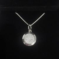 кулоны из серебра 925 пробы оптовых-Классический дизайн диск кулон ожерелье наборы оригинальная коробка для Pandora стерлингового серебра 925 подпись ожерелья женщины мужской подарок ювелирные изделия