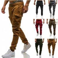 siyah pamuklu rahat pantolon erkekler toptan satış-Fermuar Kalem Tasarımcı Pantolon Erkek Joggers Sweatpants Erkekler için Rahat Pamuk Siyah Gri Pantolon Kargo Pantolon