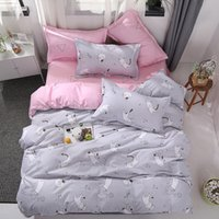 Wholesale duvet for girls princess resale online - Flowers Bed Linens Princess Style Pink Bedding Set for Girls Duvet Cover Set Quilt Cover High Quality Queen King Size Free Shopping