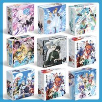 conjuntos de presente de anime de uma peça venda por atacado-New Anime japonês Naruto One Piece Comic Set Copo de Água Etiqueta Do Cartão Postal Presente de Presente de Luxo Caixa de Presente Anime Ao Redor