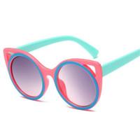 sevimli kız bebek gözlükleri toptan satış-2019 Moda Kedi Gözler Çocuk Güneş Kızlar Sevimli Bebek Vintage Güneş Çocuk Güneş Gözlükleri Erkek ulculos De Sol UV400 Z254