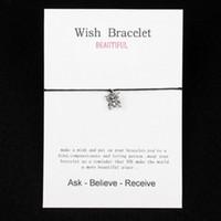 gesegnete armbänder großhandel-Einstellbar machen einen Wunsch Schmetterling Charme Armbänder Armreifen für Frauen Segen Geschenke