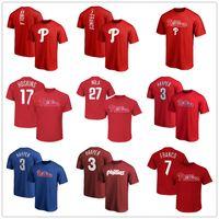 ingrosso t-shirt da basket-Phillies 3 bryce harper 17 Hoskins 27 Maglie da basket Nola Philadelphia 7 Franco magliette da uomo firm Fans Tops Tee logo stampati