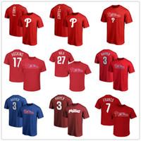 camiseta de camiseta de baloncesto al por mayor-Phillies 3 bryce harper 17 Hoskins 27 Nola Philadelphia camisetas de baloncesto 7 Franco para hombre camisetas de diseñador Fans Tops Camiseta con logotipos de marcas impresas