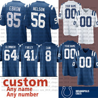 ingrosso jersey rock-Maglia Indianapolis personalizzata Colts 7 JACOBY BRISSETT 56 QUENTON NELSON 85 ERIC EBRON 15 Parris Campbel 4 Adam Vinatieri 34 ROCK YA-SIN