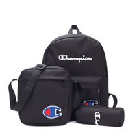 okul çantaları öğrencisi toptan satış-3 adet 1 takım Mektuplar Sırt Çantası Öğrenci Okul Çantası Erkek Kadın Seyahat Spor Omuz Çantaları taşınabilir laptop çantası Sırt Çantası KKA7145
