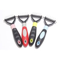 Wholesale stainless steel pet grooming table resale online - Pet Grooming Comb Tool Sided Undercoat Rake for Cats Dogs Safe Dematting Pet Supplies Comb Hair Remover EEA1060