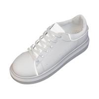 новые весенние белые туфли оптовых-Women Spring Summer White Shoes Reflective Thick Bottom Wild Muffin Shoes high quality Europe fashion  New Small Fashion