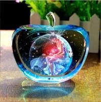 ingrosso apple deco-12 Costellazioni Statuette Glitte New Crystal Glass Apple Figurine Miniature Angelo figurine Ornamenti Accessori decorativi per la casa