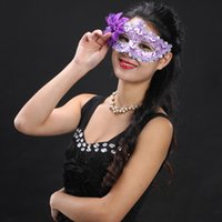 Wholesale masquerade masks face sex resale online - Sexy Venetian Mask Venice Flower Wedding Carnival Party Dance Mask Lace Side Performance Costume Sex Lady Masquerade