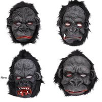 Wholesale scary halloween masks for sale - Group buy Orangutan Mask Halloween Scary Ape Mask Horror Silicone Cosplay Orangutan Mask Orangutan Foot Costume Party Supply RRA2642