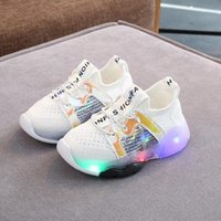 Wholesale luminous shoes children sneakers for sale - Group buy Child Sport Shoes Spring Luminous Fashion Breathable Children Kids Baby Girls Boys Bling Led Light Non slip Sneakers Shoes W40