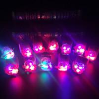 la banda de la muñeca se ilumina al por mayor-Regalo de Navidad pulseras LED Rave Gangle de dibujos animados del Light-Up de pulsera de goma de la banda partido lindo de la novedad de cumpleaños Todos Adecuado