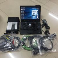 ingrosso benz sd connettersi-Full Chip MB Star C5 Con x201t i7 8g Diagnostic Laptop Novità V2019.03 SSD V ediamo 5.01 / D TS MB SD Connect C5 OBD2 Strumento diagnostico
