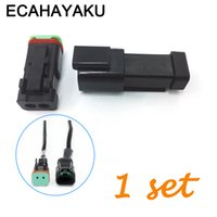 Wholesale waterproof electrical plugs for sale - Group buy ECAHAYAKU Black sets Kit Pin Waterproof Electrical Wire Connector Plug Deutsch connectors AWG DT06 S DT04 P off road