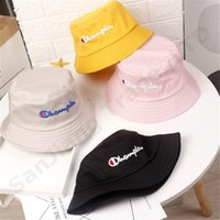1230bf587fe8c Wholesale baby bucket hats for sale - kids champions Hat letter embroidery  bucket hat summer caps