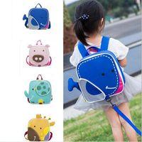 linda mochila de guarderia al por mayor-Bolso de escuela para niños 2018 nueva mochila anti-perdida bolsa de guardería pequeño animal chico bolsa linda
