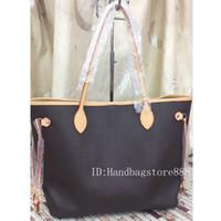 ingrosso borse medie delle signore-Borsa di medie dimensioni con portafoglio nuove donne di modo borse casual borsa da donna famosa designer borse da viaggio in pelle PU borsa femminile 2 pezzi / set