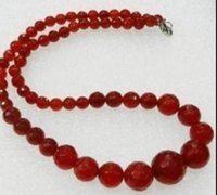 Wholesale 14mm copper beads for sale - Group buy necklac mm Exquisite Natural Red jade Faceted Round Beads Jewelry Necklace quot